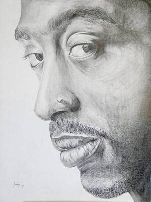 Drawing - Tupac Shakur by Stephen Sookoo
