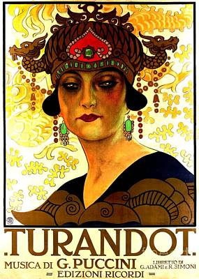 Painting - Turandot Poster by Pg Reproductions