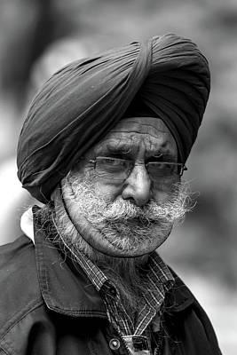 Photograph - Turbaned Man by John Haldane