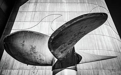 Photograph - Turbine In Black And White by Framing Places