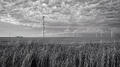Turbines And Soybeans Art Print by Mountain Dreams