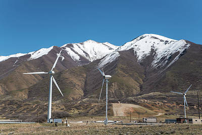 Photograph - Turbines On The Wasatch Front by Tom Cochran