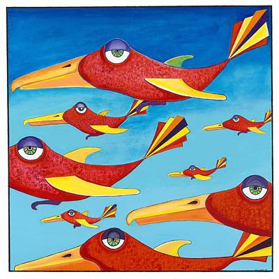 Turbo Parrots Original by Ian  Turner
