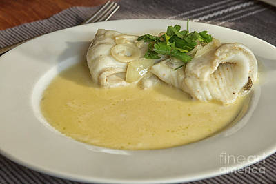 Photograph - Turbot With Wine Sauce by Patricia Hofmeester