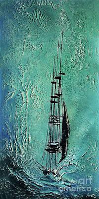 Painting - Turbulant Waters by Peter Piatt