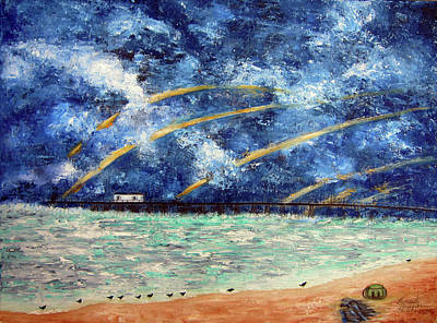 Painting - Turbulence At The Nj Shore by Leonardo Ruggieri