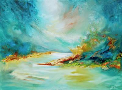 Mystical Landscape Painting - Turbulence by Bente Hansen