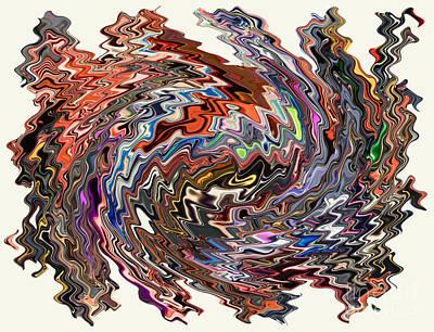Digital Art - Turbulence II by Jim Fitzpatrick