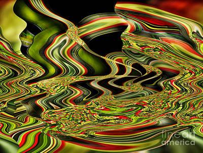 Digital Art - Turbulence IIi by Jim Fitzpatrick