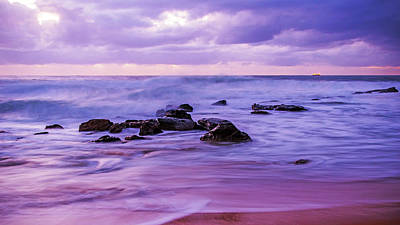 Turbulent Daybreak Seascape Art Print