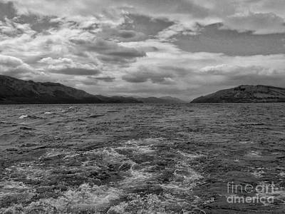 Photograph - Turbulent Loch Ness In Monochrome 2 by Joan-Violet Stretch