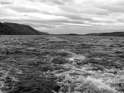 Photograph - Turbulent Loch Ness In Monochrome by Joan-Violet Stretch