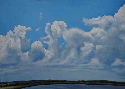 Turbulent Skies Painting - Turbulent Sky by Noah Aukerman