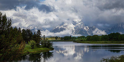 Photograph - Turbulent Tetons by Don Anderson