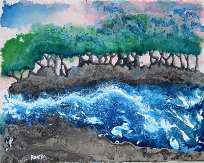 Drawing - Turbulent Waters by Antonio Romero