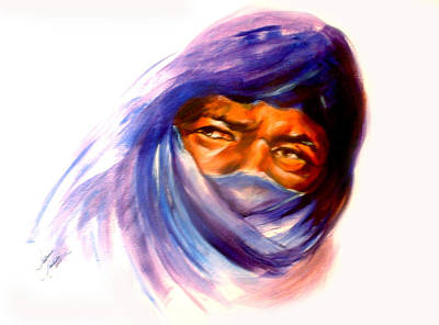 Tureg Man Art Print by Patricia Rachidi