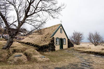 Turf Church At Hof In Iceland Original