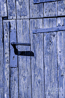 Photograph - Turf Door Blue by Rick Bragan