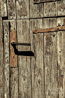 Photograph - Turf Door Sepia by Rick Bragan