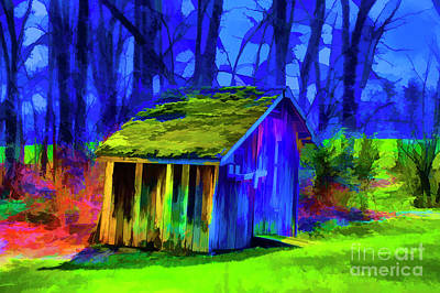 Digital Art - Turf Shed by Rick Bragan