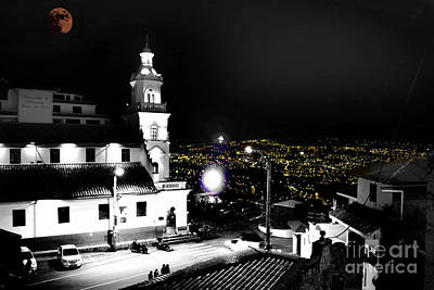 Photograph - Turi And Cuenca, Ecuador - Selective Coloring by Al Bourassa