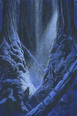 Silmarillion Painting - Turin Approaches The Pool Of Ivrin by Kip Rasmussen