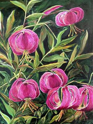 Painting - Turk Tigers In My Garden by Jane Ricker