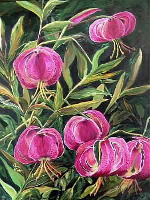 Painting - Turk Tigers In My Garden by Jane Ricker