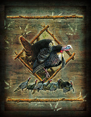 Turkey Lodge Art Print by JQ Licensing