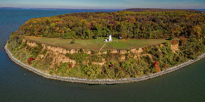 Photograph - Turkey Point Lighthouse by Mid Atlantic Aerial