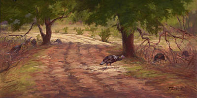 Painting - Turkey Tracks by Jane Thorpe