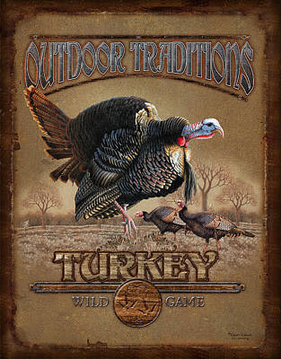 Turkey Painting - Turkey Traditions by JQ Licensing