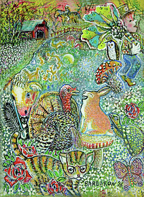 Turkey's Tall Tale Art Print by Aaron Horrell and Barb Bailey