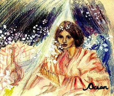 Drawing - Turkic Woman by Ocean