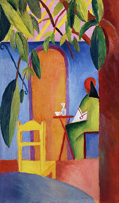 Bistro Painting - Turkisches Cafe by August Macke