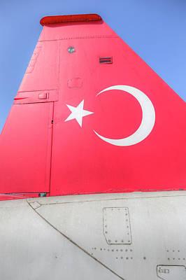 Photograph - Turkish Air Force Logo by David Pyatt