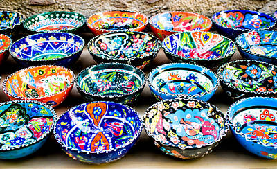 Turkish Photograph - Turkish Bowls by Tom Gowanlock