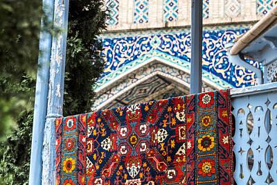 Tbilisi Photograph - Turkish Carpet Drying by John Grummitt