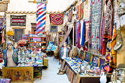 Hand Crafted Photograph - Turkish Craft Store by Tom Gowanlock