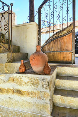 Earthenware Urn Photograph - Turkish Doorway With Urns by Phyllis Taylor