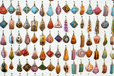 Gemstone Photograph - Turkish Earrings by Tom Gowanlock