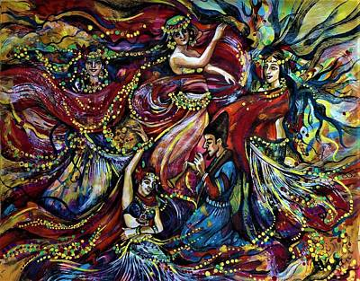 Drawing - Turkish Music by Anna Duyunova