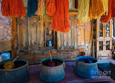 Turkish Photograph - Turkish  Rug Maker by Inge Johnsson