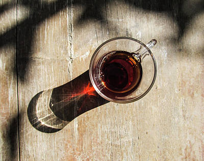 Photograph - Turkish Tea On A Wooden Table by Helissa Grundemann