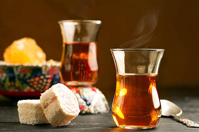 Blend Photograph - Turkish Tea On The Table  by Vadim Goodwill