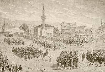 Turkish Troops Embarking To Fight In Print by Vintage Design Pics