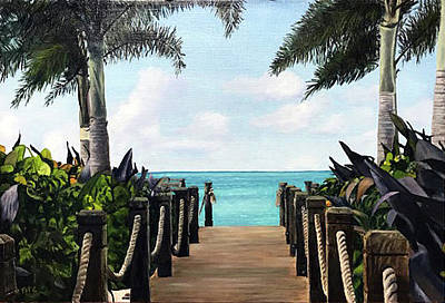 Painting - Turks And Caicos by Rick Fitzsimons