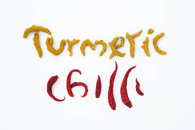 Turmeric Photograph - Turmeric And Chilli by Tim Gainey