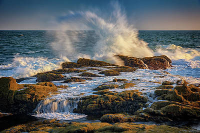 Photograph - Turmoil At Pemaquid Point by Rick Berk