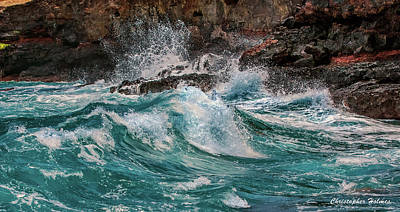 Photograph - Turmoil In Blue by Christopher Holmes